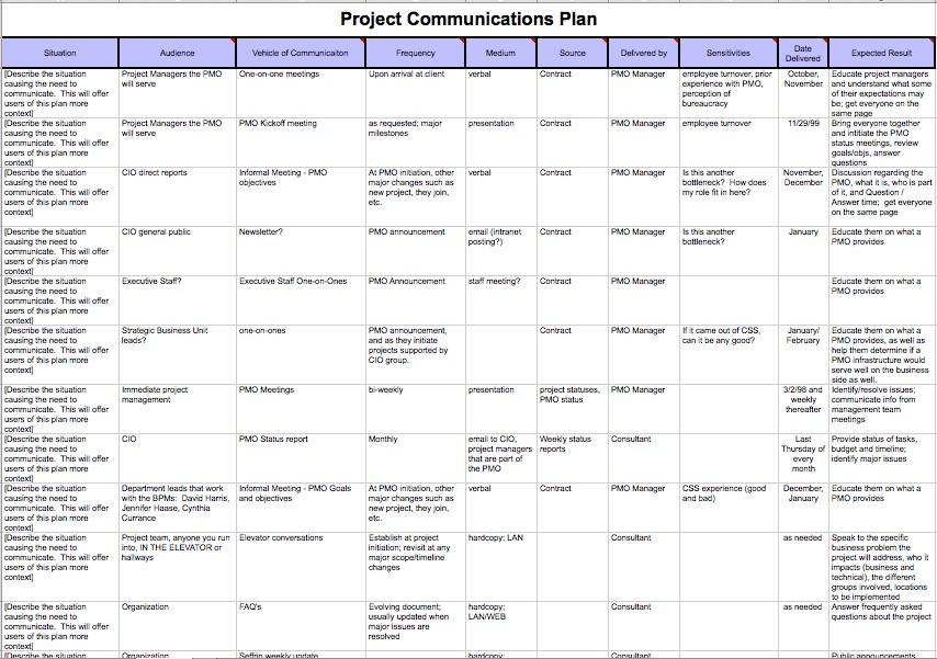 Project Communication Plan Sample from static.projectmanagement.com